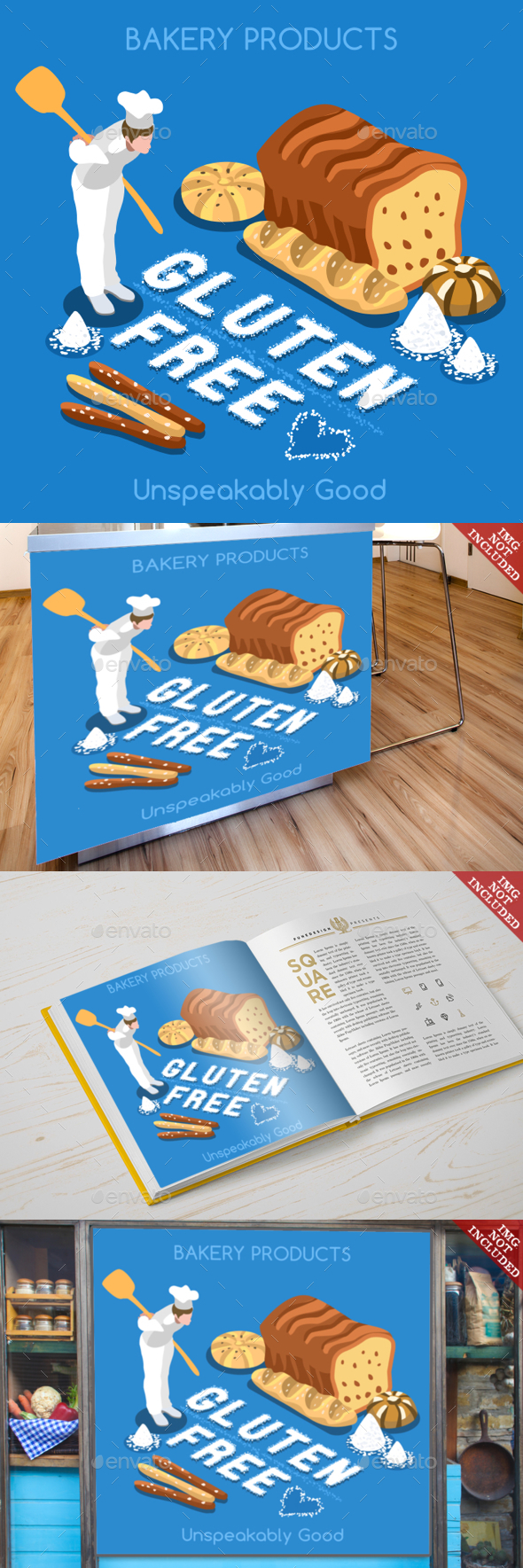 Bakery 02 Food Isometric - Food Objects