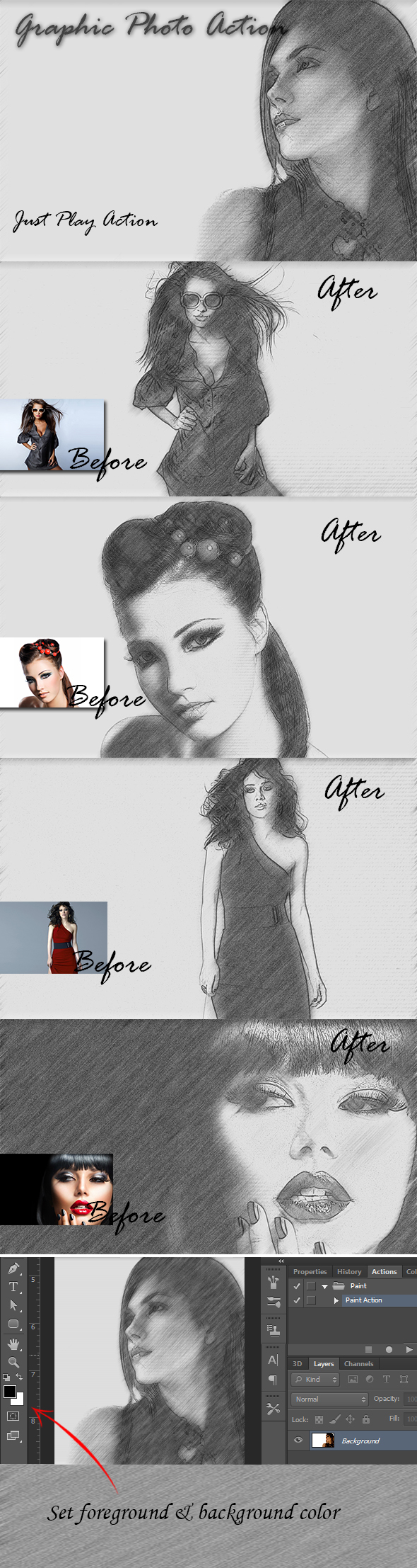 Graphic Photo Action - Photo Effects Actions