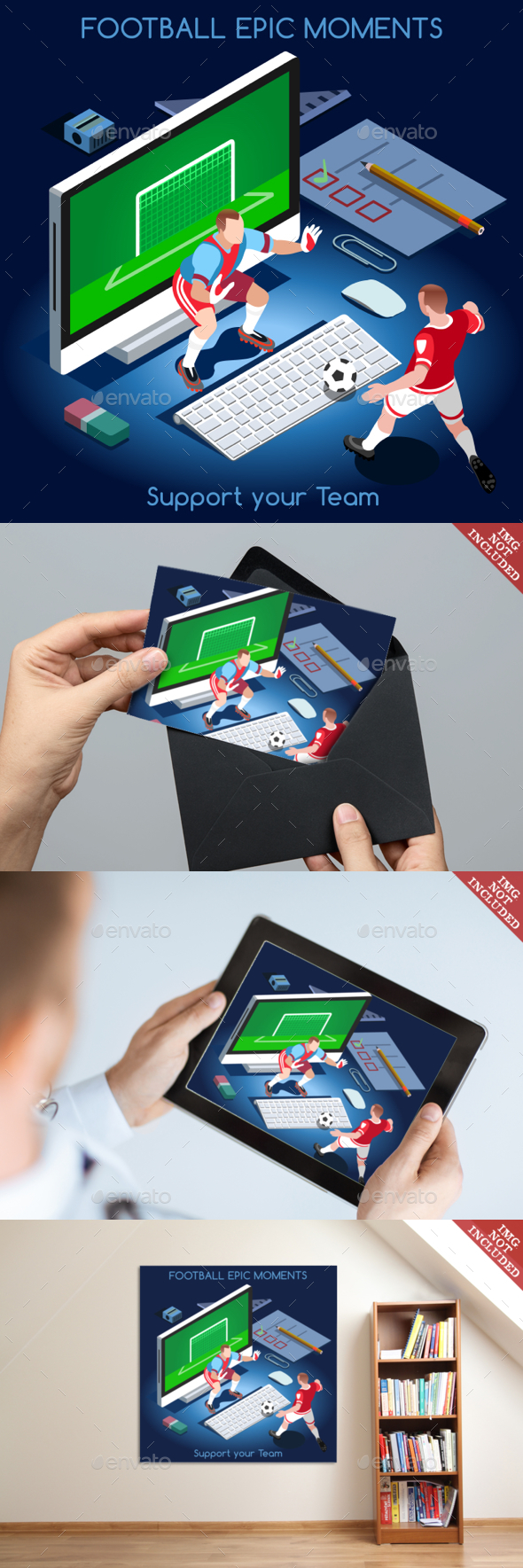 Football People Isometric - Sports/Activity Conceptual