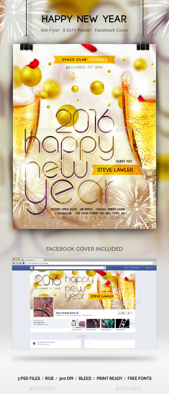 Happy New Year Templates - Clubs & Parties Events