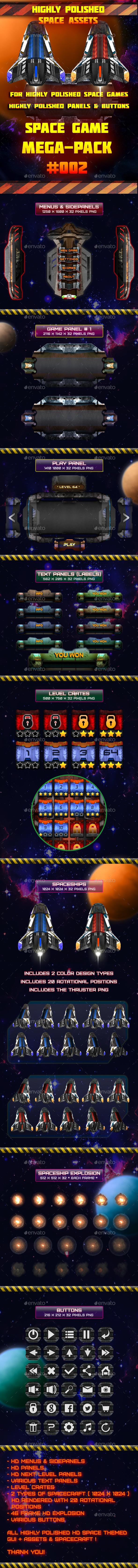 SciFi Mega Pack GUI + Assets #002 - Game Kits Game Assets