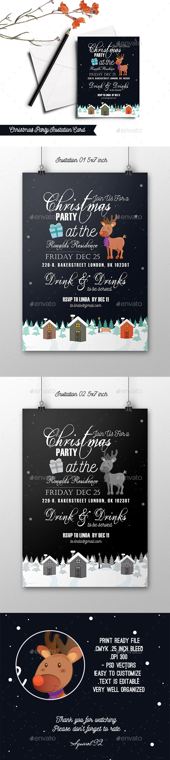 Christmas Party Invitation Card - Invitations Cards & Invites