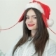 Beautiful Woman With Christmas Hat Is Posing - VideoHive Item for Sale