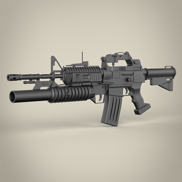 C15-M203 Machine Gun - 3DOcean Item for Sale