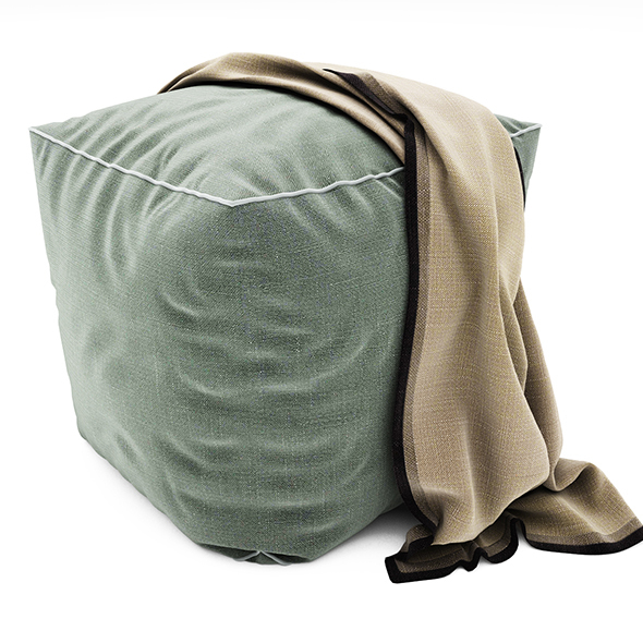 Pouf collection 05 - 3DOcean Item for Sale