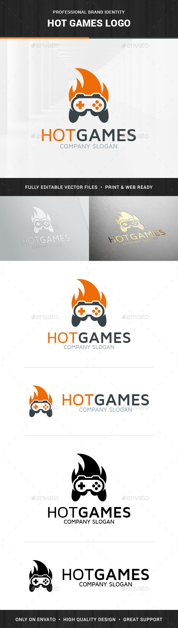 Hot Games Logo Template - Objects Logo Templates