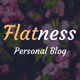 Flatness - Personal HTML Blog Template - ThemeForest Item for Sale