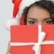 Girl Looking Out Over The Christmas Gift - VideoHive Item for Sale