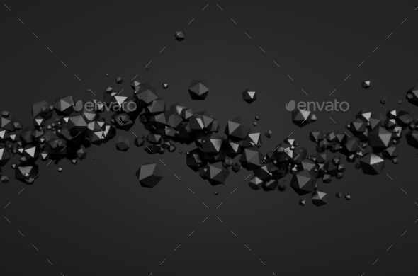 Abstract 3D Rendering Of Polygonal Spheres. - Abstract 3D Renders