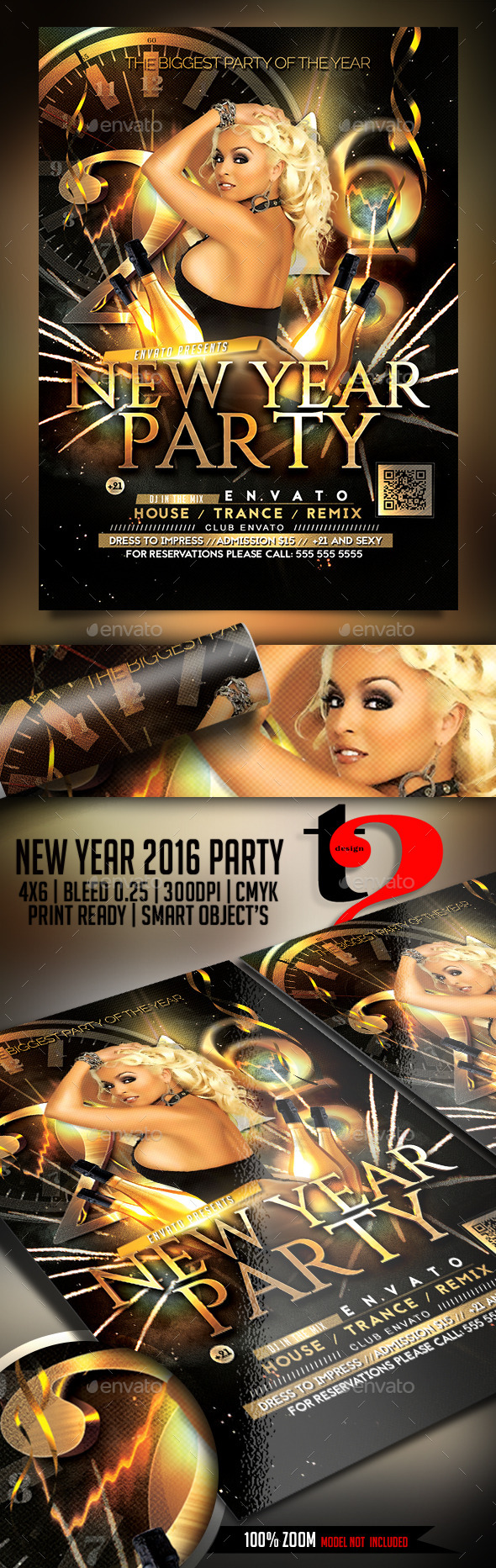 New Year 2016 Party Flyer Template - Clubs & Parties Events