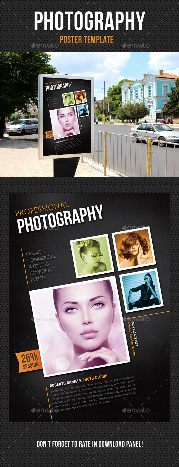 Photography Poster Template V05 - Signage Print Templates