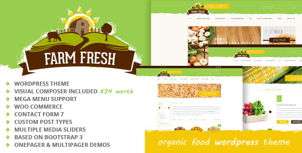 Farm Fresh – Organic Products WordPress Theme