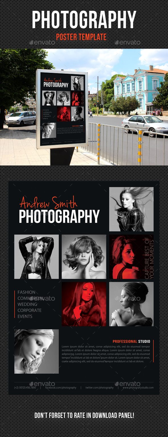 Photography Poster Template V06 - Signage Print Templates