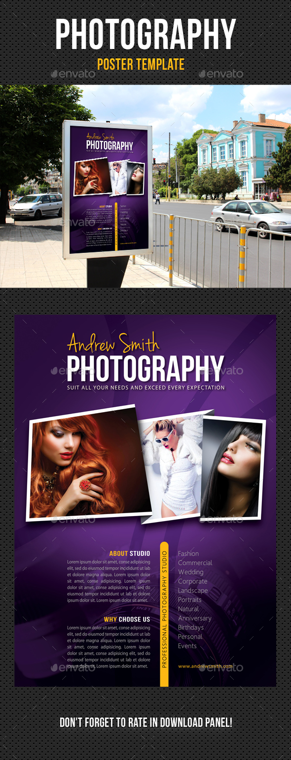 Photography Poster Template V07 - Signage Print Templates