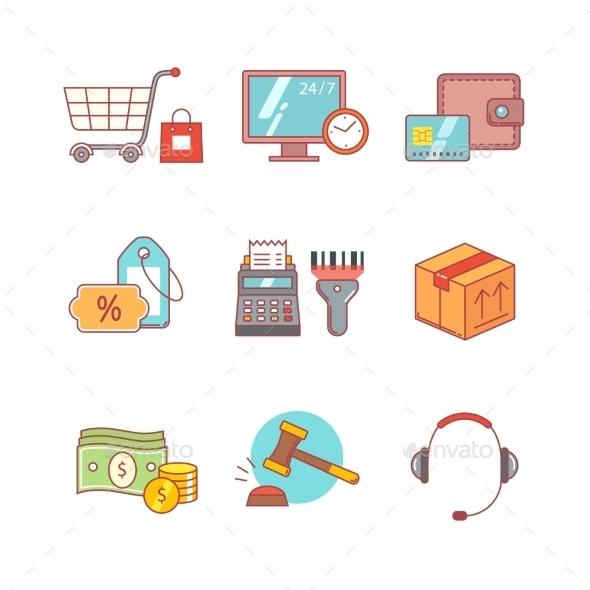 Product Retail Business, Internet Shopping - Icons