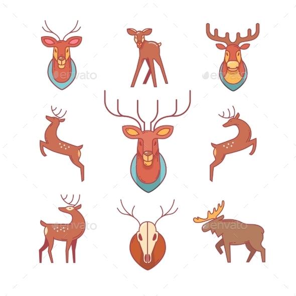 Deers, Moose, Antlers And Horns, Stuffed Deer Head - Animals Characters