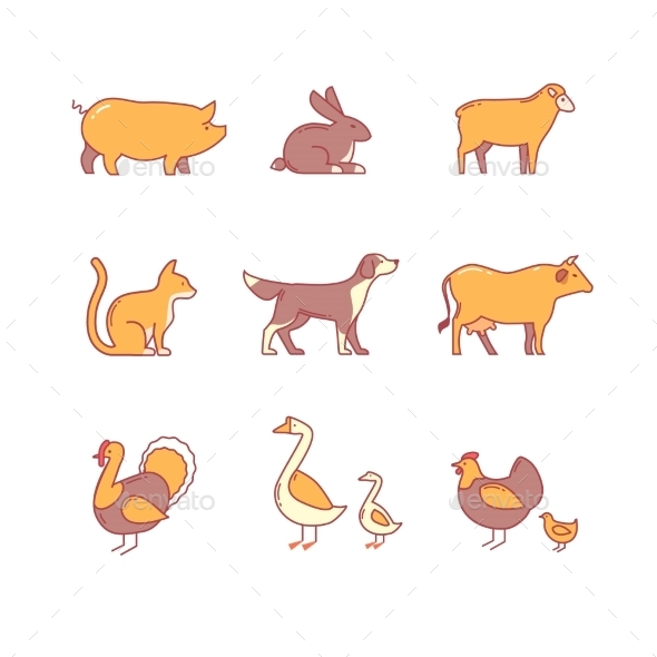 Domestic And Farm Animals - Animals Characters