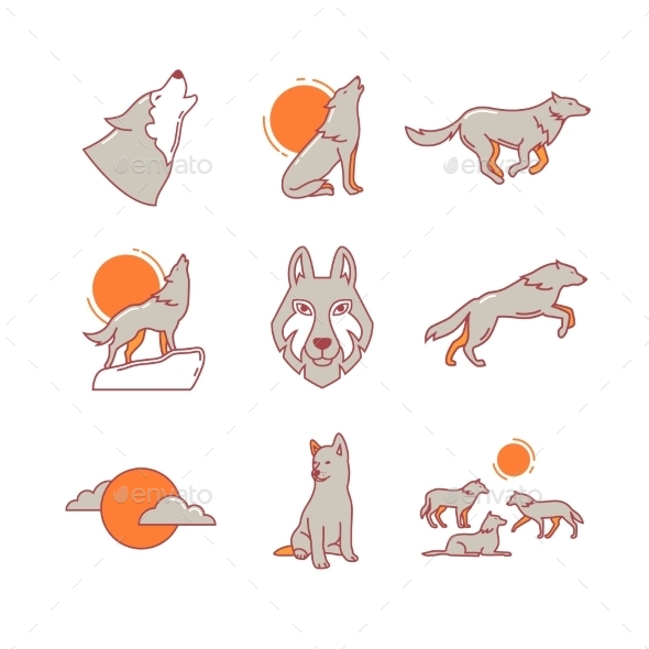 Wolves Hauling, Jumping And Running, Cub, Pack - Animals Characters