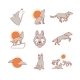 Wolves Hauling, Jumping And Running, Cub, Pack - GraphicRiver Item for Sale