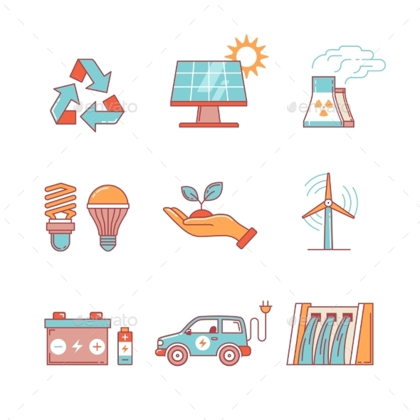 Power Generation And Ecologic Energy - Miscellaneous Icons