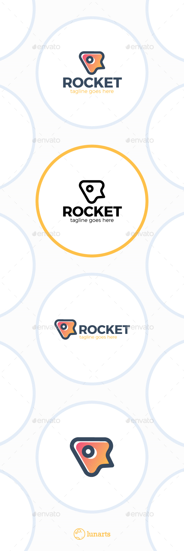 Simple Rocket Logo - Symbols Logo Templates