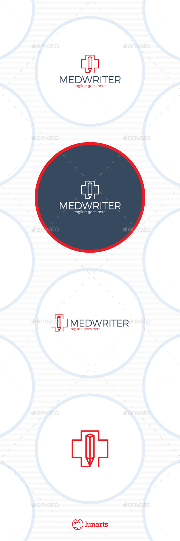 Medical Writer Logo - Pencil Cross - Symbols Logo Templates