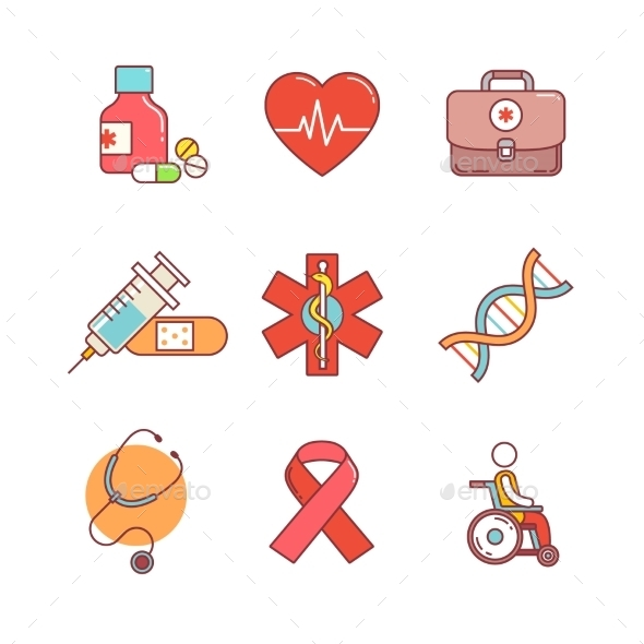 Medical, Healthcare And Health Awareness.  - Objects Icons
