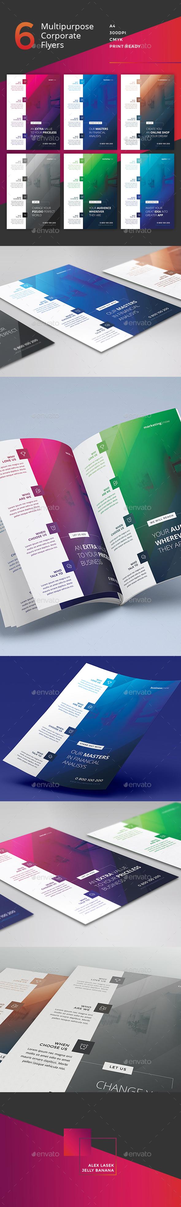 Corporate Flyer - 6 Multipurpose Business Templates vol 12 - Corporate Flyers