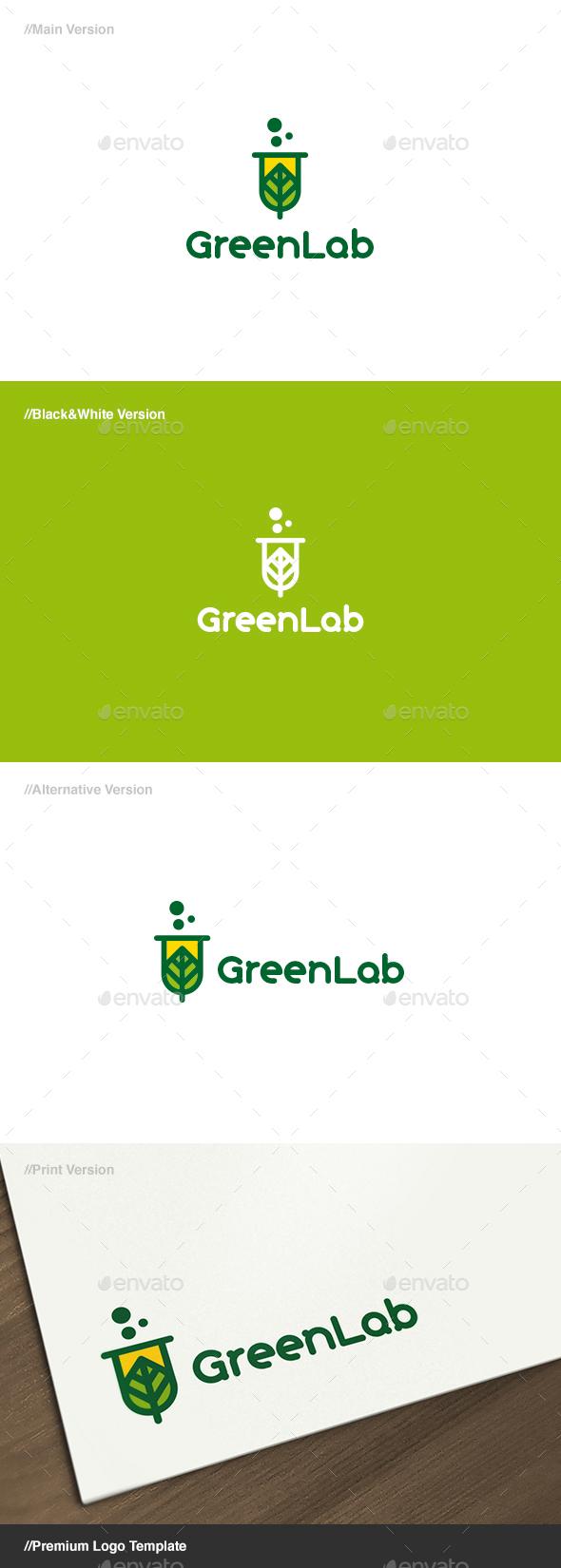 Green Lab Logo - Nature Logo Templates