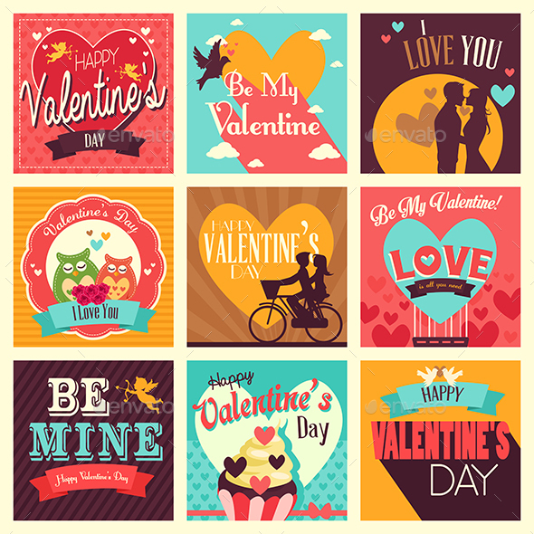 Valentine Icons - Valentines Seasons/Holidays