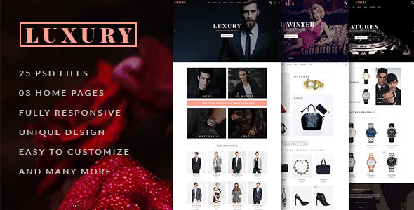 LUXURY – E-Commerce and Blog PSD Theme