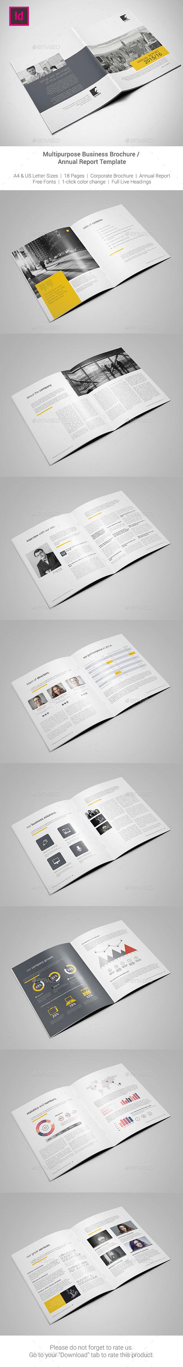 Corporate Brochure / Annual Report Template  - Corporate Brochures