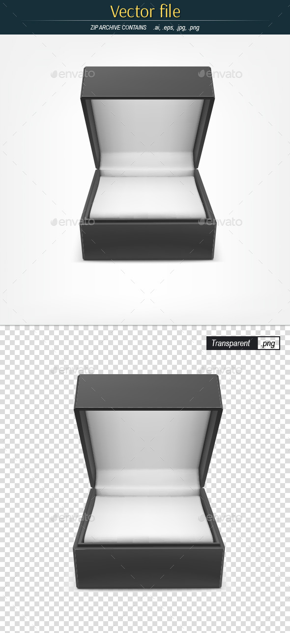 Jewelry Box Editable Vector - Man-made Objects Objects
