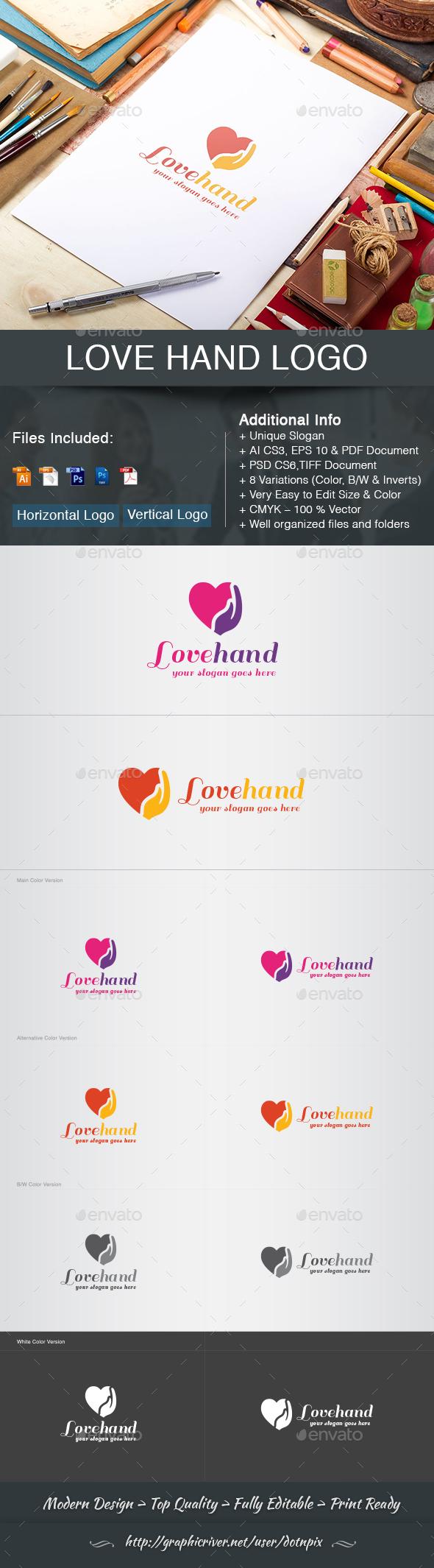 Love Hand Logo - Symbols Logo Templates