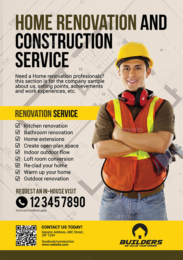 Company Construction And Building Flyer By Artchery