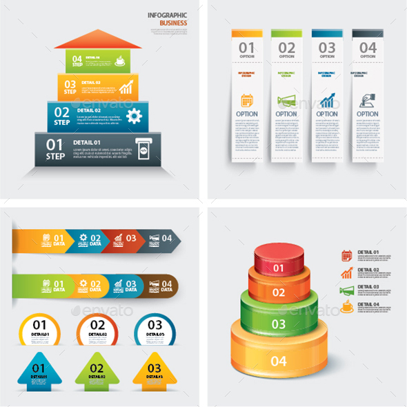 Set of Infographic Templates  - Infographics