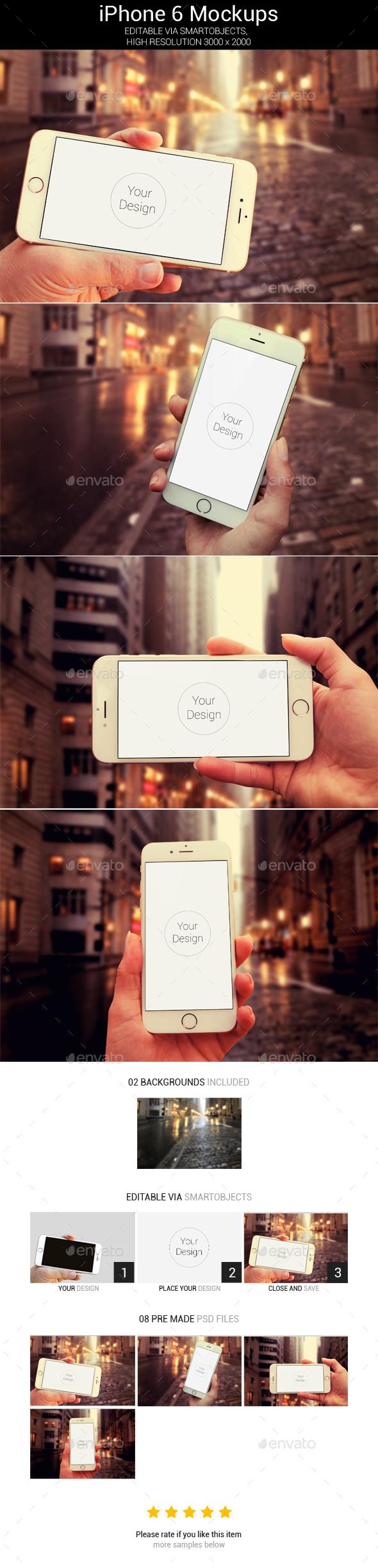 Phone 6 Mockups - 4psd - Product Mock-Ups Graphics