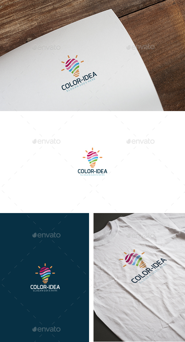 Color Idea Logo  - Abstract Logo Templates
