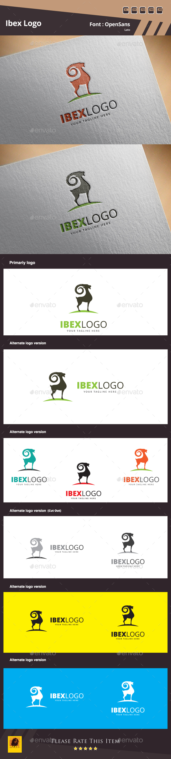 Ibex Logo  - Animals Logo Templates
