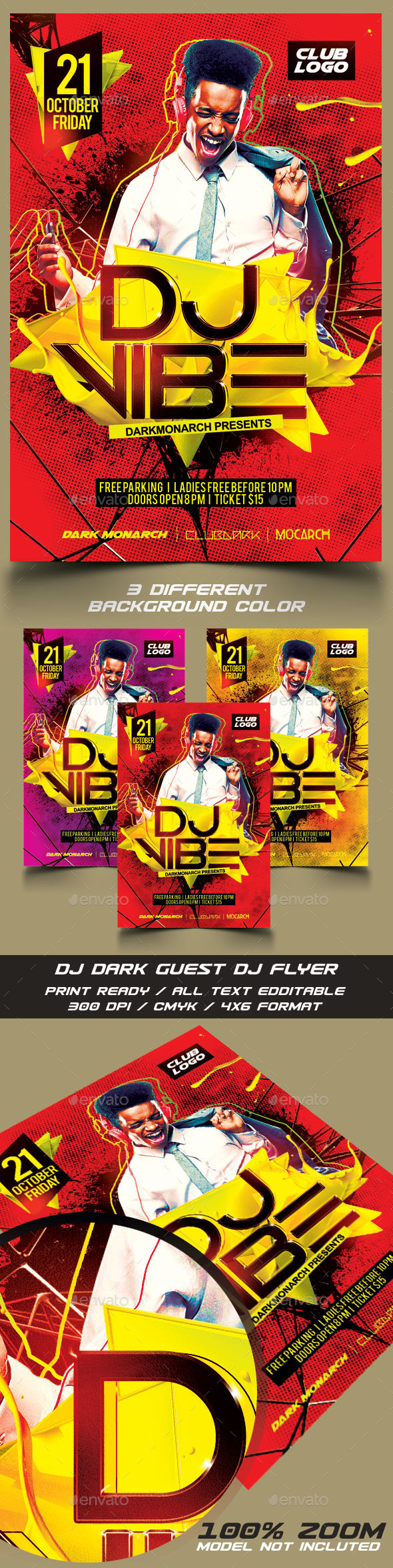 Dj Guest Flyer Template - Flyers Print Templates