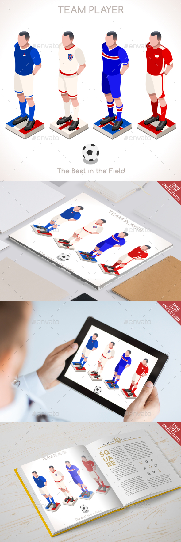 Football 03 People Isometric - Sports/Activity Conceptual