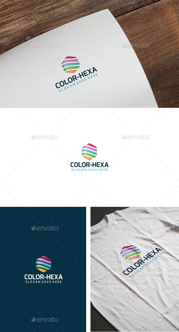 Color Hexagon Logo - Abstract Logo Templates