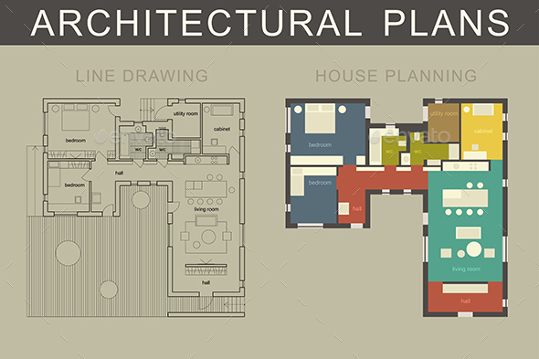 Architectural Plans - Buildings Objects