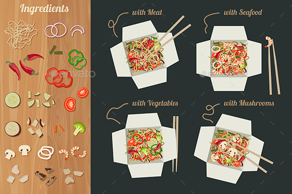 Chinese Noodles - Food Objects