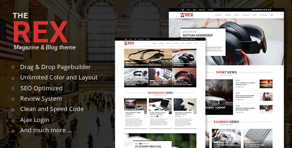 The REX – WordPress Magazine and Blog Theme