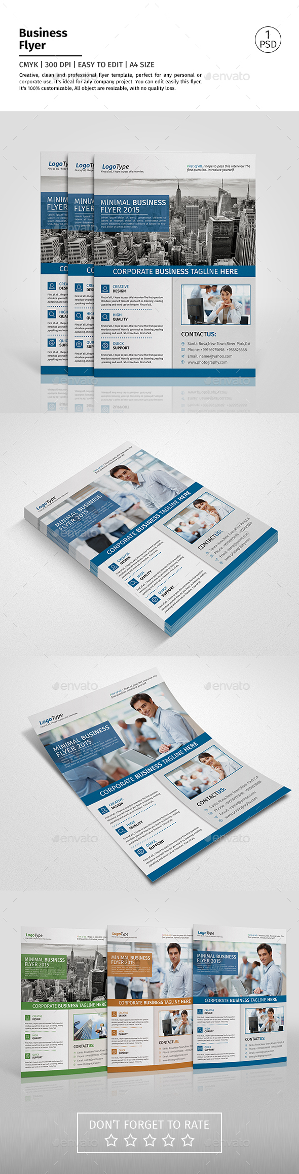 A4 Corporate Business Flyer Template Vol 03 - Corporate Flyers