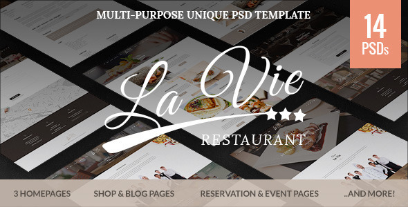 Catering – Restaurant & Cafe PSD Template