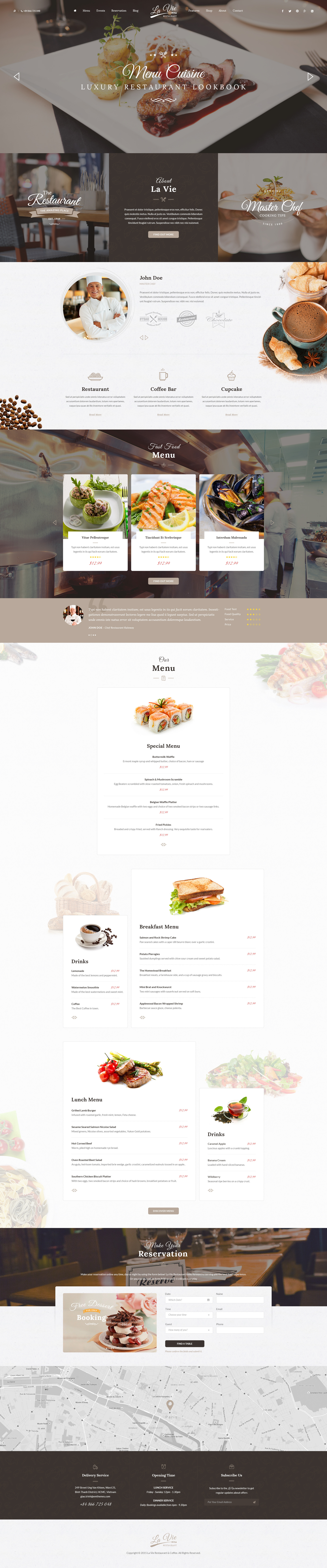 Catering - Restaurant & Cafe PSD Template by tvlgiao | ThemeForest