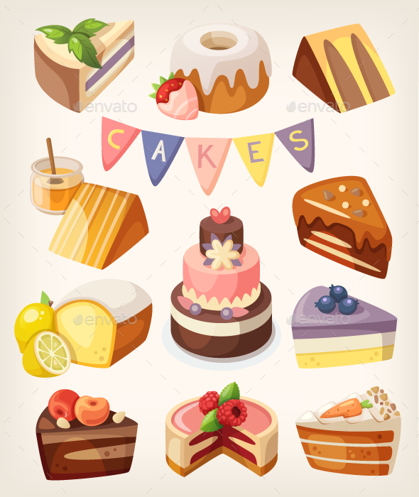 Cakes and Pies - Food Objects