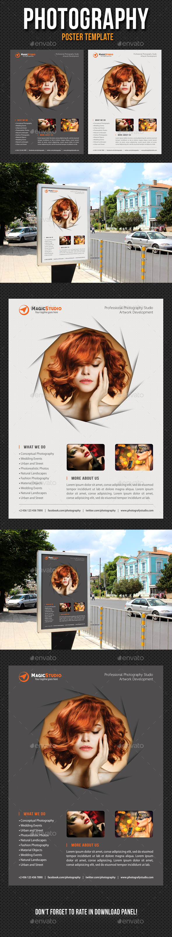 Photography Poster Template V08 - Signage Print Templates